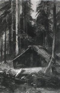 holzhauerhütte an der murg by johann heinrich limpert