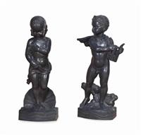 models of mythological figures (2 works) by wheeler williams