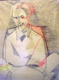 portrait d'homme by jeanne rij-rousseau
