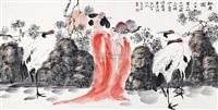 献寿图 by ren huizhong