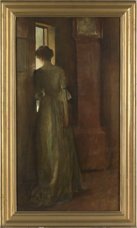 portrait of a woman by john white alexander