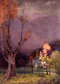 autumn in the mountains by william hurd lawrence