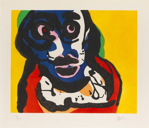 ohne titel visage by karel appel