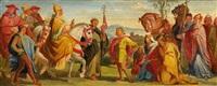 begegnung heinrichs iv. mit papst gregor vii. in canossa 1077 by alfred rethel
