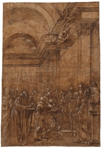 die letzte kommunion des heiligen hieronymus by giacomo francia