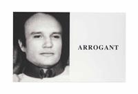 prima facie: arrogant by john baldessari