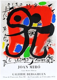 lizard in gold plums (le lézard aux plumes dór) by joan miró