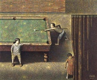 playing pool by liu hongwei