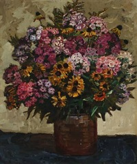 still life with flowers by matthias m. peschcke-køedt