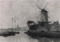holländische landschaft by h. van gessel