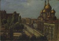 cityscape (st. petersburg?) by wladimir g. krikhatzkij