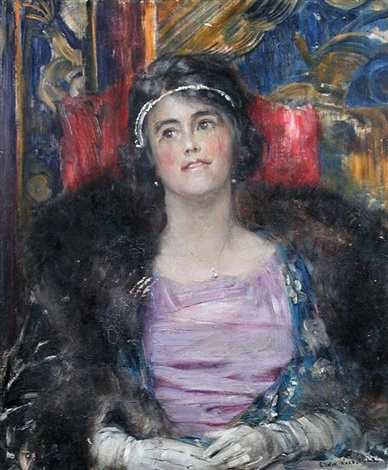 portrait of a lady by edwin arthur ward