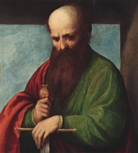 der heilige paulus by romanino (girolamo romani)