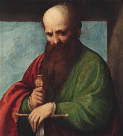 der heilige paulus by romanino girolamo romani