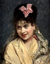 retrato de la modelo aline masson by raimundo de madrazo y garreta