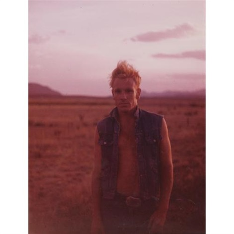 pink badlands self portrait by jack pierson