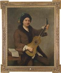 bildnis eines gitarre spielenden mannes by andrea soldi