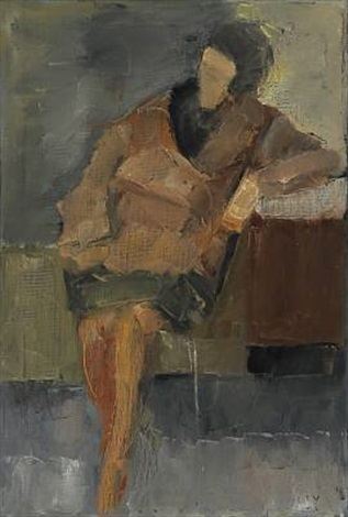 seated woman by jeppe vontillius