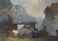 einödhof in gebirgslandschaft by oskar mulley