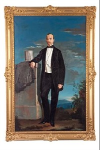 retrato de caballero by benito mercade y fabregas