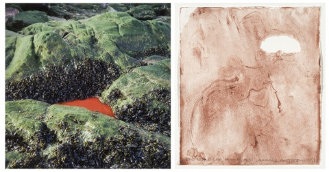 red stone sea et heysham head lancashire 2 works by andy goldsworthy