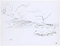 paysage de campagne pointilliste by dora maar