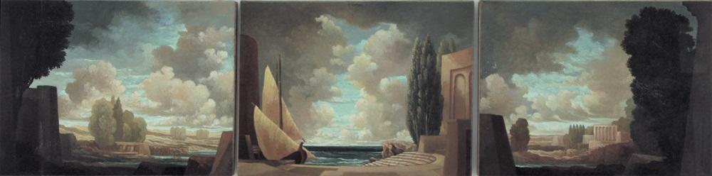 paesaggio triptych by tomaso tommasi