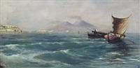 pescatori nel golfo di napoli by alfonso simonetti