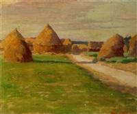 haystacks near auvers by elmer boyd smith