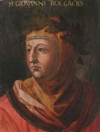 portrait des dichters giovanni boccacio (um 1313-1375) by cristofano di papi dell' altissimo