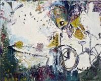 fahrrad mit tisch und schmetterling by stefanie hoellering