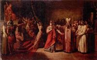 athalia before jehoiada (?) by jean baptiste louis (baron gros) gros