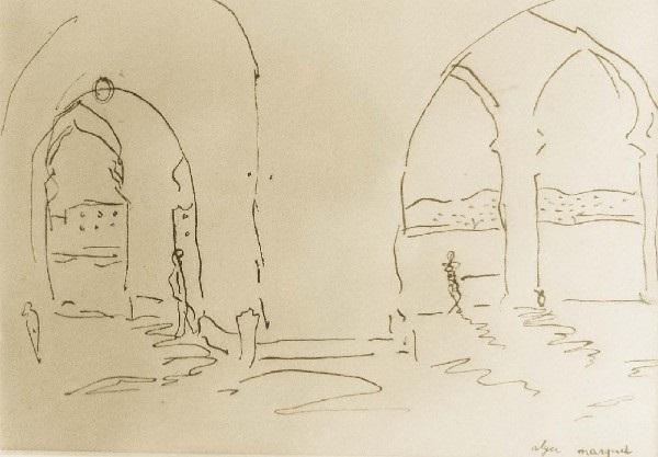 intérieur animé dun palais dalger by albert marquet