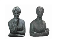 portrait bust (annie 1st viscountess cowdray?)(+ another (her sister gertrude?); 2 works) by ivan mestrovic