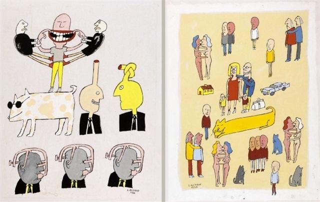 menneskelige udtryksformer og relationer 2 works by peter lautrop