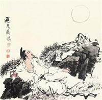 邀月图 by liu jirong