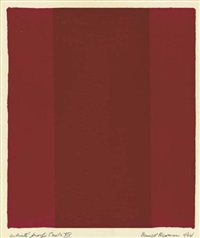 canto xiv (from 18 cantos) by barnett newman
