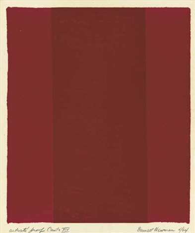 canto xiv from 18 cantos by barnett newman