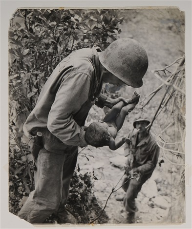 on saipan soldier with baby by w eugene smith