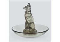 ring tray : chien by rené lalique