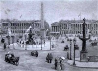 view of place de la concorde by charles vignon