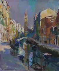 rio di s barnaba, venice by walter langhammer
