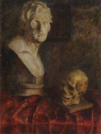 still life with a bust by nikolai kononenko