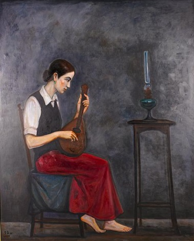 the girl playing mandolin by chen ching jung