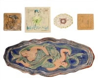 a mermaid platter (+ 4 others; 5 works) by quentin bell