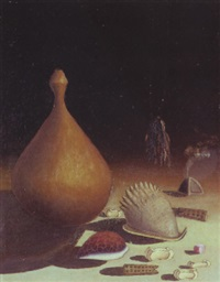 divination objects with a calabash by simon moroke lekgetho