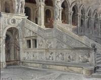 treppe der giganten des dogenpalastes in venedig by hugo vogel