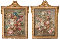 blomsterstilleben (pair) by jan frans van dael