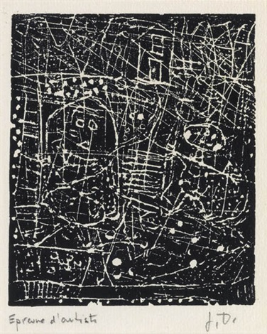 paysage avec deux personnages from ler dla canpane by jean dubuffet