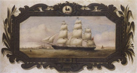 a belfast colonial clipper the slieve donard approaching liverpool by duncan mcfarlane